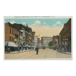 Eastern View of Court Street from Water Street Poster