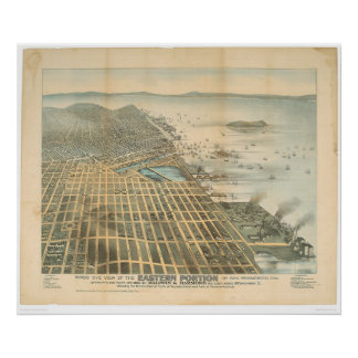 Eastern View of San Francisco, CA. (1529A) Poster