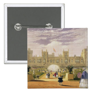Eastern view of the Castle and Garden, Windsor Cas Button