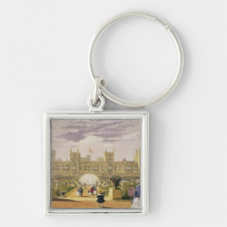 Eastern view of the Castle and Garden, Windsor Cas Keychain