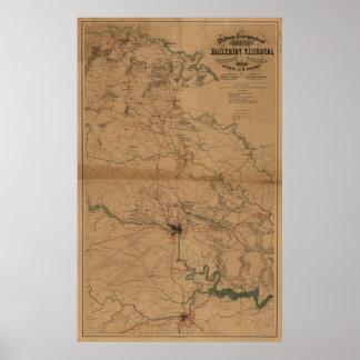 Eastern Virginia Civil War Poster