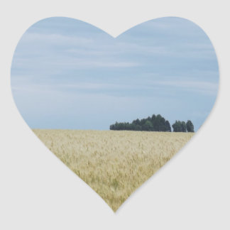Eastern Washington Wheat Field Heart Sticker