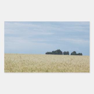 Eastern Washington Wheat Field Rectangular Sticker
