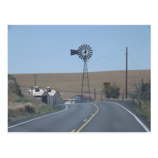 Eastern Washington Windmill Postcard