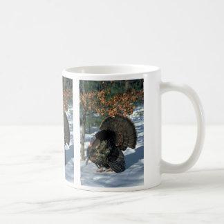 Eastern wild turkey, huge gobbler in full strut coffee mug