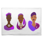 Eastern woman placemats