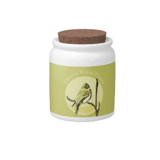 Eastern Wood-Pewee Candy Jar
