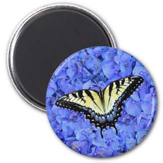 Eastern Yellow Tiger Swallowtail Butterfly T-Shirt 2 Inch Round Magnet
