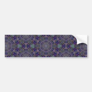 Eastern Zen Mandala Fine white lace on purple Bumper Sticker