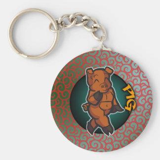 Eastern Zodiac - Pig Keychain