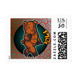 Eastern Zodiac - Pig Stamp (Horizontal)
