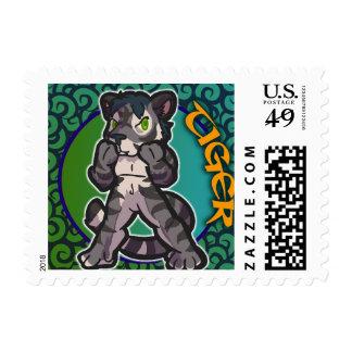 Eastern Zodiac - Tiger Stamp (Horizontal)