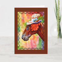 Easter's Horse Birthday Card
