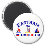 Eastham MA Signal Flag 2 Inch Round Magnet