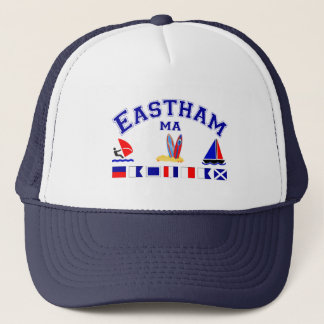 Eastham MA Signal Flag Trucker Hat