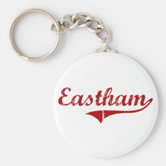 Eastham Massachusetts Classic Design Basic Round Button Keychain