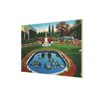 Eastman House Gardens Lily Pond Canvas Print
