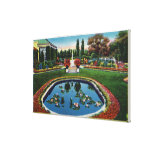 Eastman House Gardens Lily Pond Canvas Prints