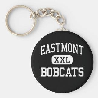 Eastmont - linces - joven - Wenatchee del este Llavero Redondo Tipo Pin