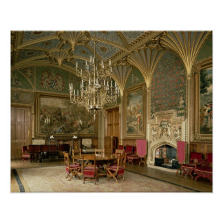 Eastnor Castle, Herefordshire: the drawing Poster