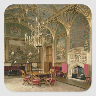 Eastnor Castle, Herefordshire: the drawing Square Sticker