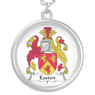 Easton Family Crest Round Pendant Necklace