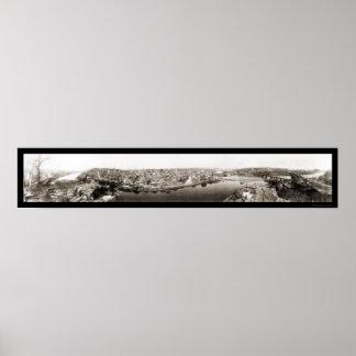 Easton, foto 1917 de Pennsylvania Póster