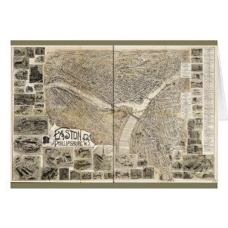 Easton Pennsylvania & Phillipsburg New Jersey 1900 Card