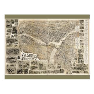 Easton Pennsylvania & Phillipsburg New Jersey 1900 Postcard