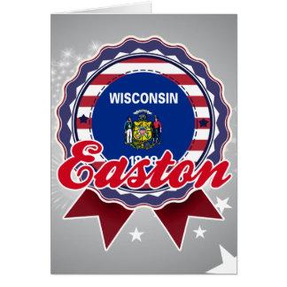 Easton, WI Tarjeta De Felicitación