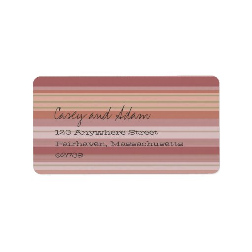 Eastover Summer Stripe Address Label