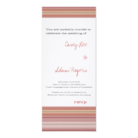 Eastover Summer Stripe Invitation