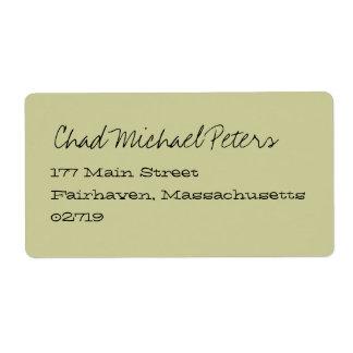 Eastover Summer Stripe Mailing Label
