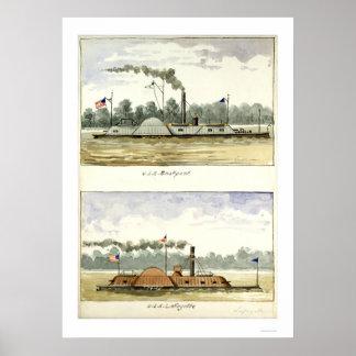 Eastport acorazado de D.M.N. Stouffer 1864 Póster