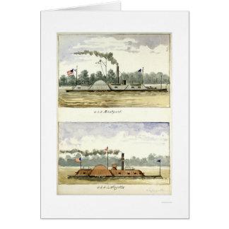 Eastport acorazado de D.M.N. Stouffer 1864 Tarjeta De Felicitación