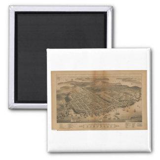 Eastport, Maine en 1879 Imán Cuadrado
