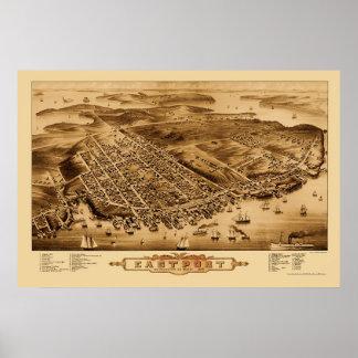 Eastport, ME Panoramic Map - 1879 Poster