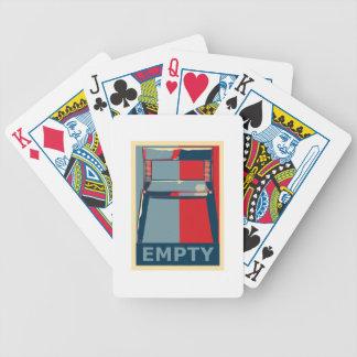 Eastwooding el político divertido de la silla de barajas de cartas