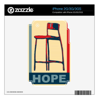 Eastwooding Invisible Chair of Hope iPhone 3G Skins