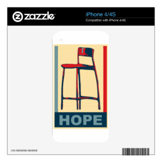 Eastwooding Invisible Chair of Hope iPhone 4 Skins