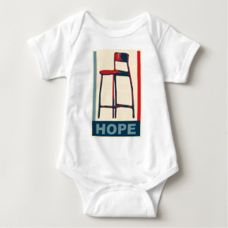 Eastwooding Invisible Obama Chair of Hope Baby Bodysuit