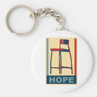 Eastwooding Invisible Obama Chair of Hope Basic Round Button Keychain