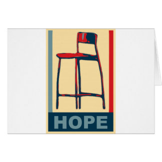 Eastwooding Invisible Obama Chair of Hope Card
