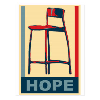 Eastwooding Invisible Obama Chair of Hope Postcard