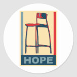 Eastwooding Invisible Obama Chair of Hope Round Stickers
