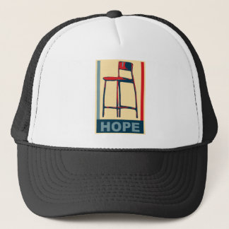 Eastwooding Invisible Obama Chair of Hope Trucker Hat