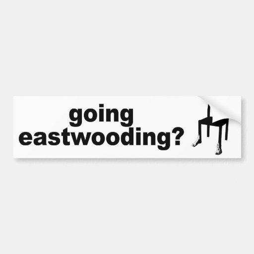 ¿Eastwooding que va? Etiqueta De Parachoque