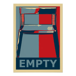 Eastwooding the Chair Funny Obama Political Humor Poster