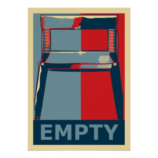 Eastwooding the Chair Funny Obama Political Satire Poster
