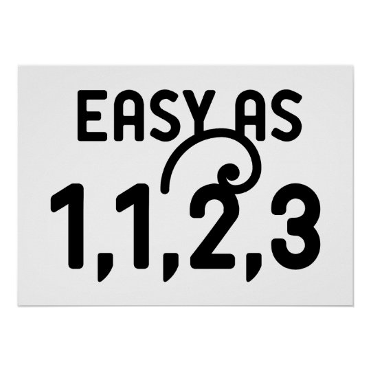 Easy as 1,1,2,3 poster